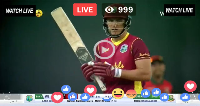 WI vs BAN 1st ODI PTV Sports Live