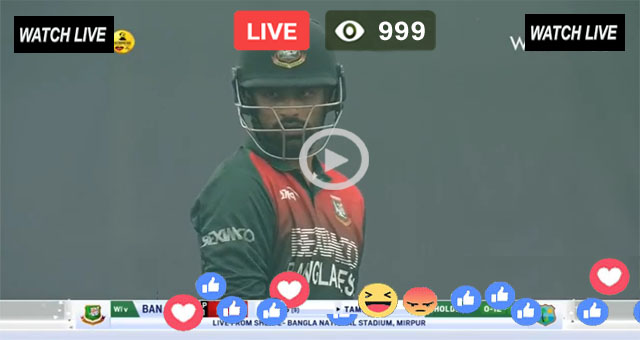BAN vs WI 2nd ODI PTV Sports Live