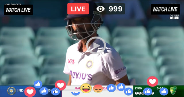IND vs AUS 4th Test Day 3 Sony Six Live