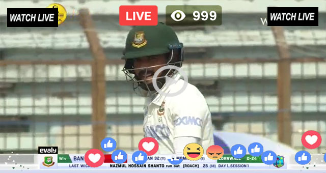 BAN vs WI 1st Test Day 1 T Sports Live