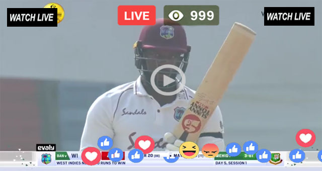WI vs BAN 1st Test Day 5 T Sports Live