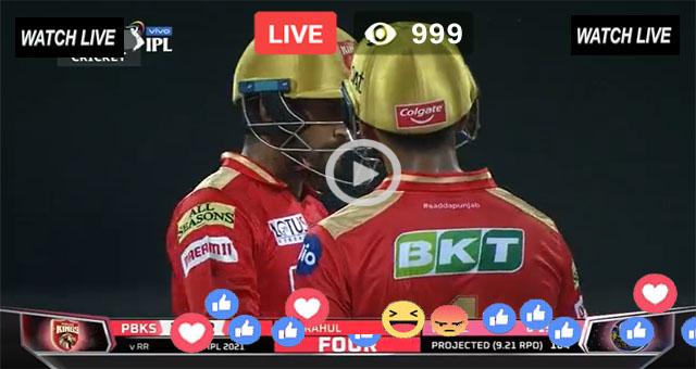Punjab Kings vs Kolkata Knight Riders 21st T20 - IPL 2021 Live